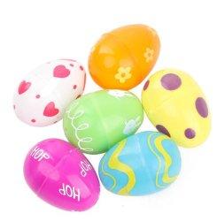 Venda a quente impresso de plástico colorido Festival de Páscoa Egg