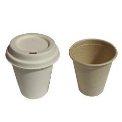 Jantar descartáveis de louça biodegradável bagaço Set 12 Oz Cup