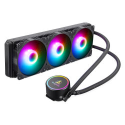 오만 - 싱가포르 Becool - RGB CPU 수냉 - 회전식 캡 디자인 360mm 라디에이터 - 3개 120mm RGB PWM 팬 -cpu-water-Cooler