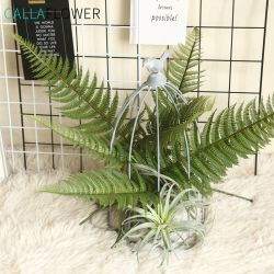 Реальные коснитесь зеленого искусственного Scutellaria Palm листьев деревьев фо завод MW45555