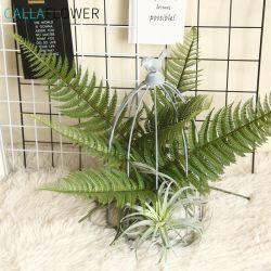 Toque Real Artificial Verde Scutellaria Palmeira deixa Faux fábrica MW45555