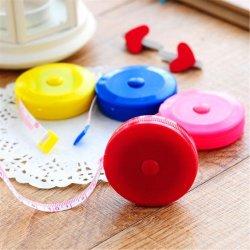 다채로운 레드 라운드 측정 테이프 플라스틱 홍보 선물 둥근 케이스 측정 테이프