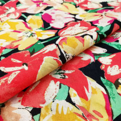 На заводе прямой оптовая торговля текстильной индивидуальные органических цифровая печать на обычной тканого постельное белье с цветочным рисунком хлопчатобумажной ткани для одежды