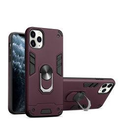 Armor Anti-Scratch híbridas a los golpes de anillo ocurre con el soporte de teléfono de soporte de cubierta para iPhone 11 PRO