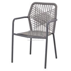 Meubles de jardin Chaise de corde de salle à manger du restaurant et café