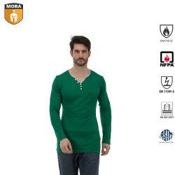 Homens 100% algodão Fr Fr quente confortável resistente a chamas de roupas íntimas com mangas compridas