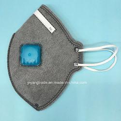 Maschera in carbonio attivo anti-polvere piegata con valvola
