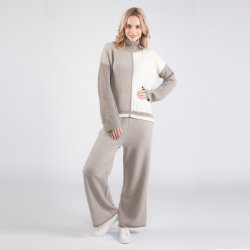 2019 de nouveaux styles 100% cachemire pullover avec Mesdames Pantalon de loisirs; Costume de Cachemire