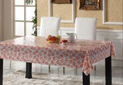 Tissu de table en vinyle en plastique transparent PVC imprimé en nappe transparente