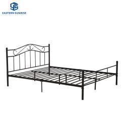 Chambre à coucher Mobilier de l'hôtel moderne à bon marché roi Reine Simple Double enfants lit en fer métallique