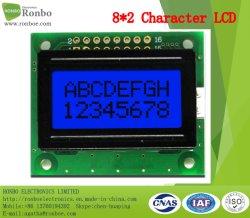 8X2, Módulo LCD de caracteres de 8 bits MCU, Fundo azul, COB Stn visor LCD