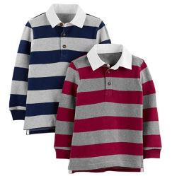 Custom повседневный мальчиков полосатый хлопок вязание длинной втулки детей рубашки поло