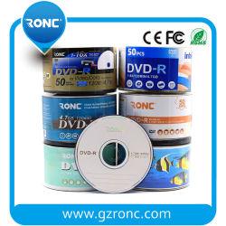 1950 년대 수축 포장에 인쇄할 수 있는 중국 도매 16X 4.7GB 공백 DVD