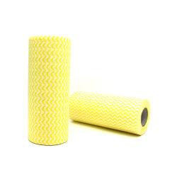 Вискоза/полиэстер ежедневные салфетки нетканого материала ткань ткань для очистки домашних хозяйств стабилизатора поперечной устойчивости