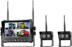 7 pouces Moniteur d'enregistrement 4CH 2,4GHZ de rétroviseur de voiture caméra numérique sans fil