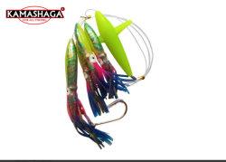 Kamasshaga totalmente viciado Grande Jogo Daisy Bird Cadeia Corrico Pesca barco Lula Isco Rig Teaser, Pack de 3