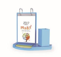 Desktop Calendrier acrylique en plastique coloré avec porte-plumes & Momo feuille