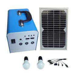 10W de energía del Panel de Energía Solar Fotovoltaica Inicio Kits de iluminación LED de alimentación DC de UPS Portátiles sistema Suppy