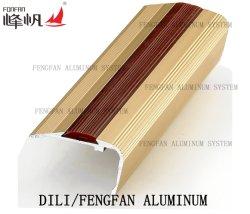 Perfil de obras de escadas de material de decoração com inserto de PVC