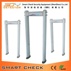 Прогулка через ворота металлоискателя тип сканера тела металлоискателя