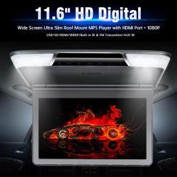 호리호리한 높은 스크린 11.6 아래로 인치 차 손가락으로 튀김 MP5 선수 지원 1080P HDMI