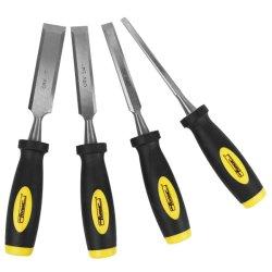 4pcs Jeux d'outils de menuiserie 40Cr ciseau à bois en acier fixé