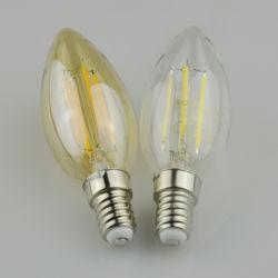 Ângulo de feijão 360 Base e14 C35 de 4W bicaudal LED decorativas de vidro da lâmpada da luz de velas para Lustre