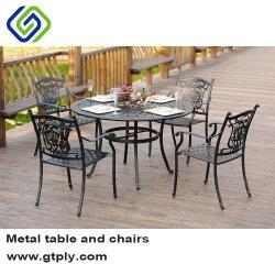 Reprodução antigo mobiliário de exterior em alumínio fundido de ajuste de Jantar Cadeira de jantar da China