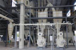 La biomasa pellets de madera completa línea de maquinaria