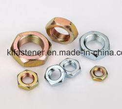 Halbe Muttern des Stahlhexagon-DIN439