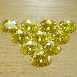 2*3mm de large de l'améthyste de pierres précieuses ovale Cheap CZ Zircone