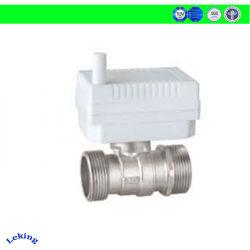 Rosca hembra de DN50/eléctrico de altas prestaciones de conexión de brida Válvula de bola motorizada con DC5V accionadores para medidor de agua y calor medición/HVAC
