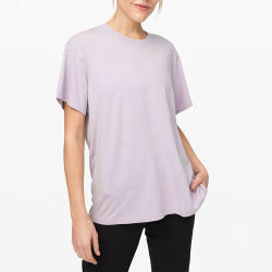 Vente chaude OEM femmes ordinaires T-shirt décontracté violet pour les femmes