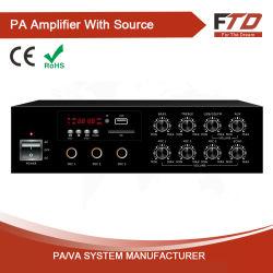 مضخم صوت Mixer لسطح الطاولة بقوة 30 واط، مدمج في MP3/SD/FM/Bluetooth/Echo+DC12 فولت