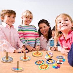 Les enfants en bois coloré drôle Beyblade Toupies Kids Game de jouets pour adultes