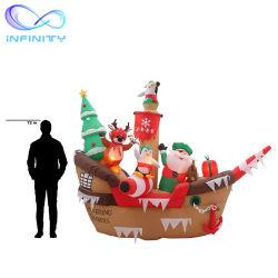 출생 팽창식 거대한 크리스마스 해적선 장면 팽창식 광고가 주문을 받아서 만들어진 옥외 크리스마스에 의하여 LED 점화한다