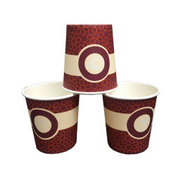 2020 новый дизайн 6 унций одноразовые чашки бумаги одной стене чашки кофе питьевой