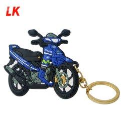 Portachiavi in metallo in gomma/PVC morbido per motociclette personalizzate