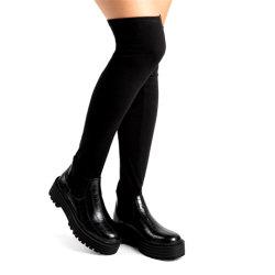 Zapatos mujer Zapatos de damas de moda Dama Sexy muslo calcetines zapatos botas altas de la mujer