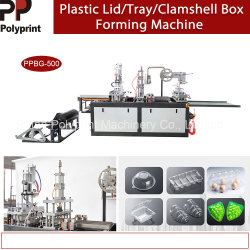 Plastikmaschinenhälften-Kasten-Takeout Kasten Thermoforming Maschinen-beweglicher Cup-Kappen-Cup-Deckel, der Maschine herstellend sich bildet