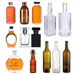 Home Use/Resturant Use/Cosmetic Packaging âmbar vidro transparente Perfume bottle/Liquor bottle/Vodka Garrafa/garrafa de Medicina/garrafa de vinho/garrafa de vidro