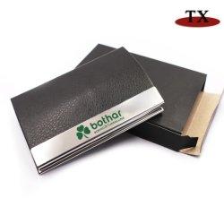 Supporto di scheda di cuoio della cassa della carta di credito del raccoglitore dell'unità di elaborazione di marchio su ordinazione