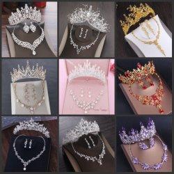 ネックレスのEaringsの王冠のティアラSv1021と結婚する花嫁のアクセサリの宝石類の水晶