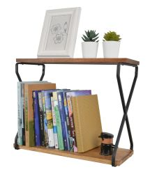 Scaffale personalizzato per libro piccolo in legno a 2 strati con montaggio a parete per Decorazione domestica
