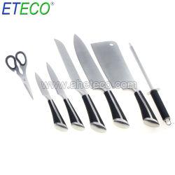 8pcs 家庭用ブロック付きステンレススチールキッチンナイフ