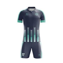 Oberseite Sale Zoll-konzipiert freier Entwurfs-Fußball Jersey Firmenzeichen-Fußball-Uniform