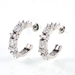 Shinny Crystal Earrings mujeres niñas Regalo Navidad joyas circón