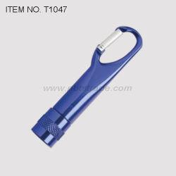 Torche LED en aluminium avec mousqueton (T1047)