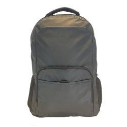 Zaino nero personalizzato promozionale del computer portatile del poliestere del sacchetto dell'istituto universitario di modo