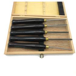 5 PCS HSS cincel de la talla en madera de madera girando el cincel